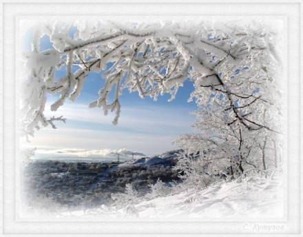 Белые узоры для зимнего города