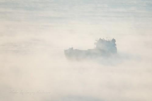 Арктический пейзаж на Волге
