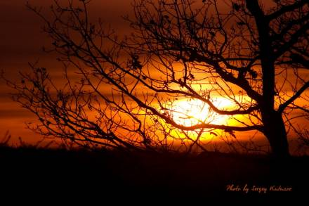Закат над оврагом Широкий 2