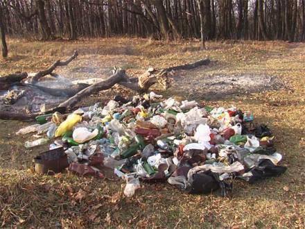 Груды мусора на Кумысной поляне